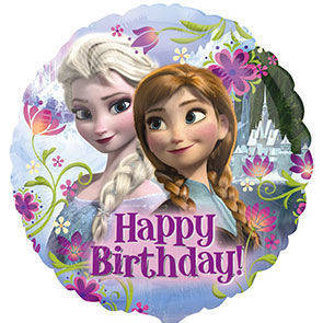 Pallone Mylar Frozen Happy Birthday 43 cm